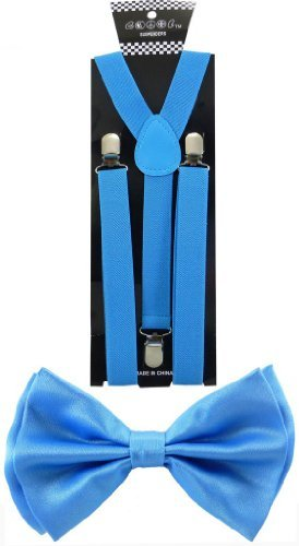 Blue Combo Belt (Nice Shades Combo Pack Suspenders & Bow Ties Sky Blue)