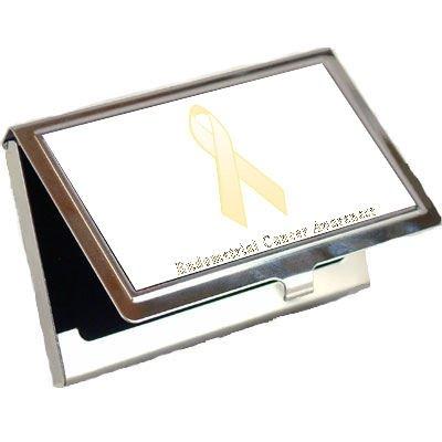 Endometrial Cancer Awareness Ribbon Business Card Holder