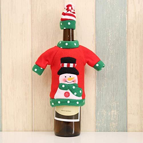 CHIGANT Conjunto de Cubierta de suéter de Botella de Vino Decorado Navidad Reutilizable Interesante Adornos-: Amazon.es: Hogar