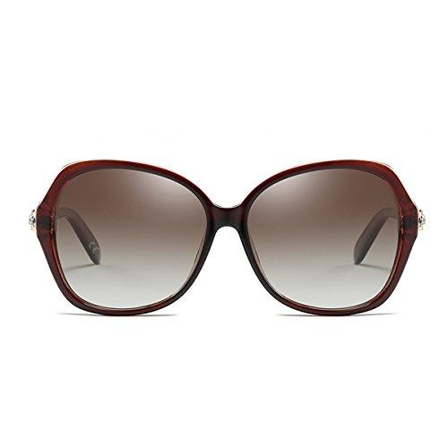 BLEVET Gafas Brown Gafas UV400 Sol Mujer Polarizadas Protección Moda Brown Lens BE005 de Diamante Frame de Decoración rBAwfqWUr