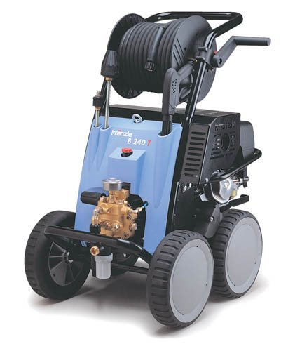 KranzleUSA B 270 T  Cold Water Gas Industrial Pressure Washer  with Auto-Idle and 65' Wire Braided Hose on Hose Reel, 3500 PSI, 4.2 GPM, 13 HP by KranzleUSA
