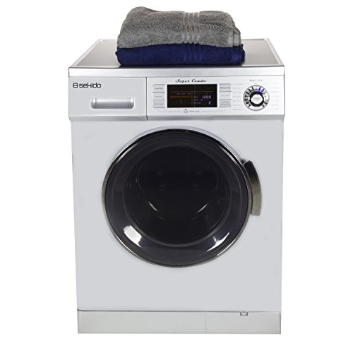 Front Load 1.6 Cu.ft. New Compact Combo Washer Dryer SK 4400 CV Silver with Optional Venting/ Condensing Drying with Automatic Water Level and Sensor Dry