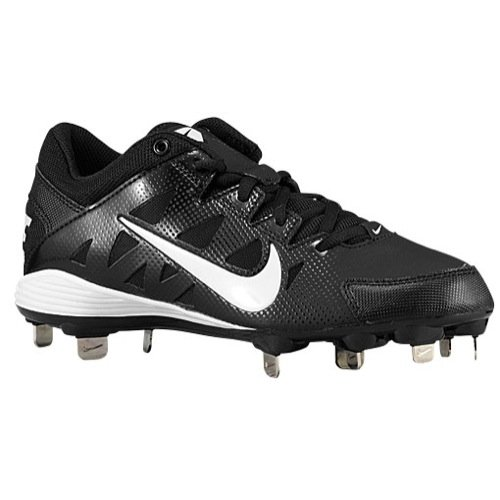 New Nike Womens Hyperdiamond Strike Metal Softball Cleat Black/White 7