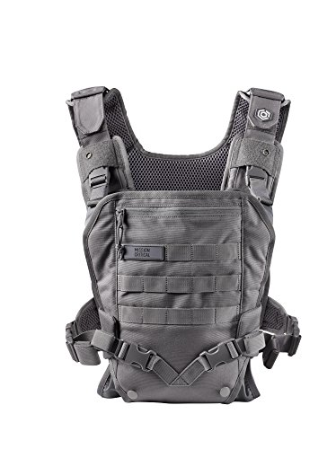 Men's Baby Carrier - Front -for Dads - by Mission Critical - Gray (Omni Nylon Vest)