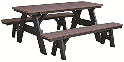 Wondrous Amazon Com Wildridge Heritage Outdoor Picnic Table With Customarchery Wood Chair Design Ideas Customarcherynet