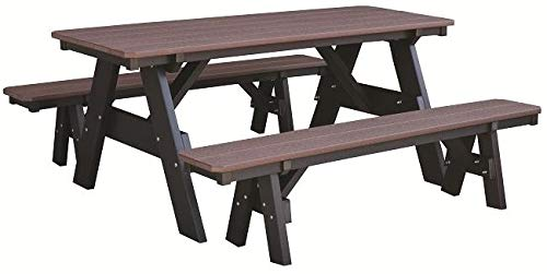 (Wildridge Heritage Outdoor Picnic Table with Unattached Benches - Ships in 10-14 Business Days)