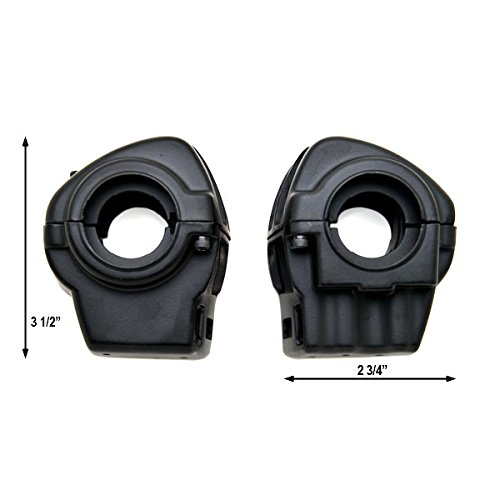 Black Handlebar Switch Housings Control Cover Kit For 2002-2012 Harley Davidson Road King FLHR//I