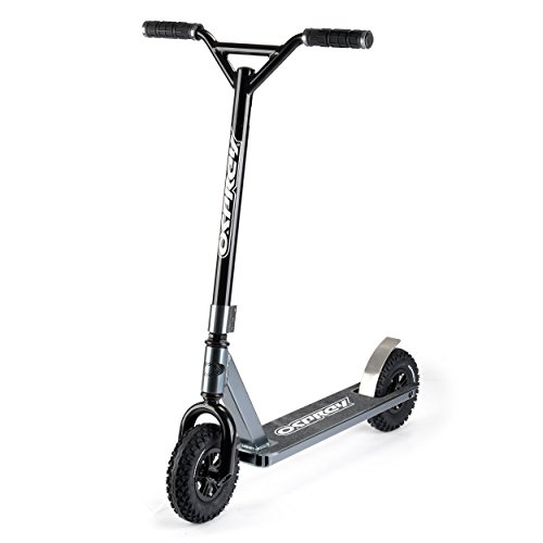 - Osprey Dirt Scooter with Off Road All Terrain Pneumatic Trail Tires - Gunmetal Gray - Offroad Scooter for Adults or Kids