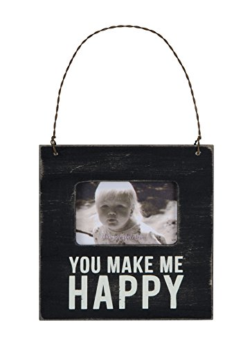 Primitives by Kathy Mini Box Sign Frame, Make Me Happy, 4.5