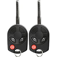 KeylessOption Keyless Entry Remote Car Ignition High Security Key Fob Replacement for 164-R8007 (Pack of 2)