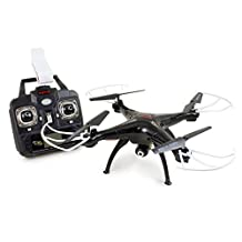 Syma X5SW(better than X5C)4CH 2.4G 6-Axis Gyro Headless Support Mobile Phone Apple IOS Android Wi-Fi Wifi Control FPV HD 2.0MP Camera 360-degree 3D Rolling Mode 2 RTF RC Quadcopter Black