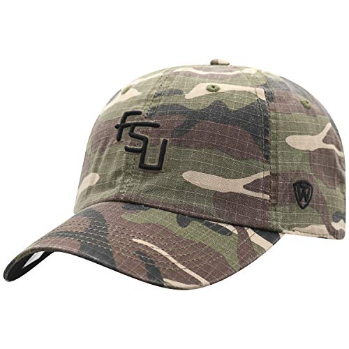 Top of the World NCAA Florida State Seminoles Men's American Hero's Adjustable Icon Hat, Camo