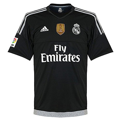 Real Madrid Home Goalkeeper Jersey 2015 / 2016 + Club World Cup Champions Patch - XL