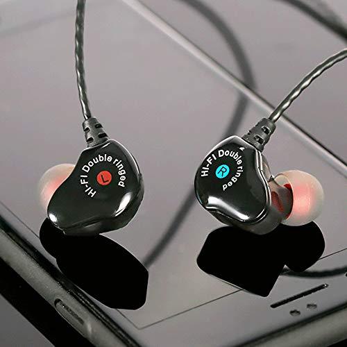 (SHUDAGE HiFi Earphone Dual Dynamic Driver Headphone Super Bass Stereo Headset with Mic)