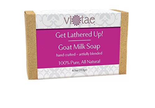 Vi-Tae 100% Natural and Organic Handmade 'Get Lathered Up' 4oz Soap Bars (Goat Milk, 1 pack)