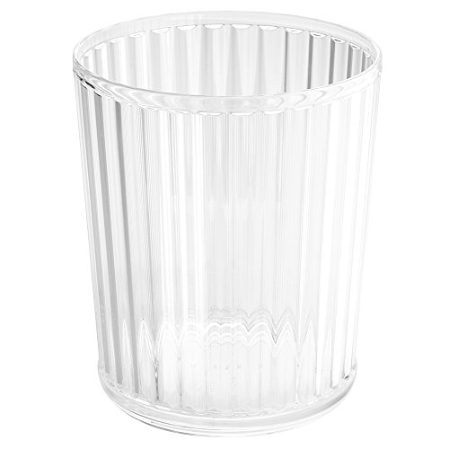 iDesign Alston Acrylic Waste Basket, Trash Can for Bathroom, Kitchen, Office, Bedroom, 8