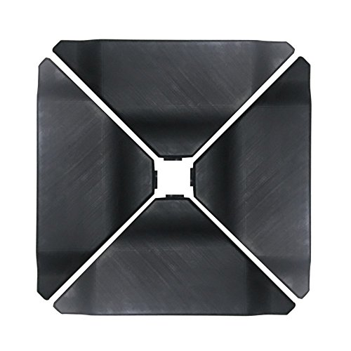 Abba Patio Cantilever Offset Umbrella Base Plate Set, Pack of 4, Black (Base 150 Lb Umbrella)