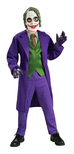 [Batman The Dark Knight Deluxe The Joker Costume, Child's Large] (The Joker Masquerade Costume)