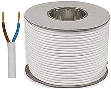 1 Meter Black 3182Y 2 Core 1.5mm 16 Amp PVC Flexible Cable Cut To Length Flex