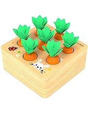 Felly Houten Speelgoed voor 1 Jaar Oud Peuter Fijne Motor Skill Toy Montessori Plugging Speelgoed Wortelen Oogst Bijpassende Game Vroege Leren Kleuterschool Educatieve Geschenken Speelgoed voor 2 3 4 Jaar Oude Kids