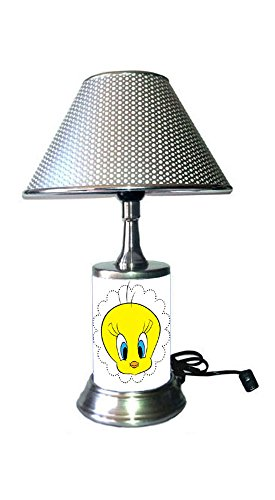 JS Tweety Bird Lamp with chrome shade, Warner Bros. cartoons and ()