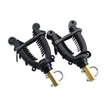 Cycle Force Handle Bar Mount Gun N' Bow Rack, Black