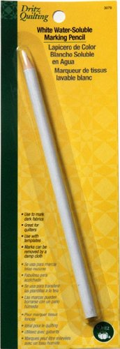 Dritz Quilting Water Soluble Marking Pencil, White
