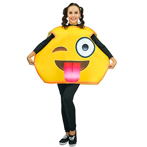 Adult Unisex Emoji Costumes Tongue 1 Size