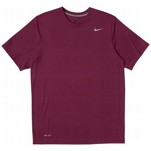 Maroon Short Sleeve Tee - Nike Men's Legend Short Sleeve Tee, Maroon, L