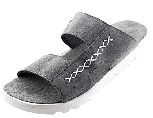 KISS GOLD(TM) Zapato Holgazán Zapatilla Causual Transpirable Verano Hombre Gris-Modelo B