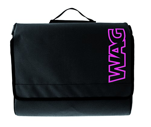 Wag Satteltaschen Cordura Everyday Schwarz/Pink (Taschen Vintage City)/Side Bags Cordura Everyday Black/Pink (Vintage City Bag)