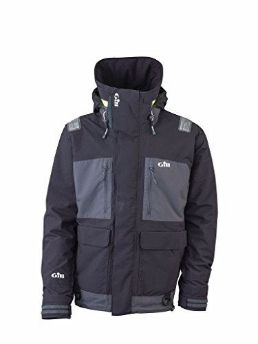Gill Foul Weather - Gill Men's Tournament with Vortex Hood Jacket, Graphite/Ash, Large