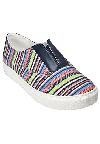 Comfortview Womens Wide Maisy Sneaker Cv Sport Multi Striscia