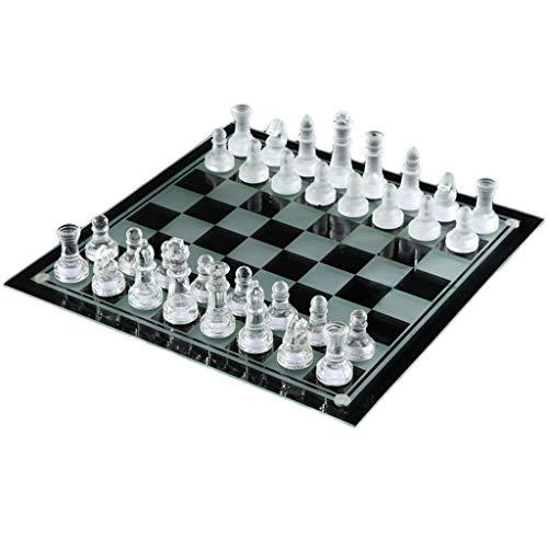 HTGW Juego de ajedrez Completo K9 Glass Chess Medium Wrestling Packaging Juego de ajedrez Internacional Juego de ajedrez…