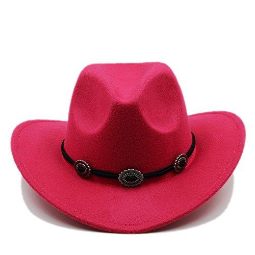 Foam Cowboy Hat Pink (XENO-Kids Child Boys Girls Panama Hats Cowboy Western Caps Wide Brim Sombrero Sunhat(pink))