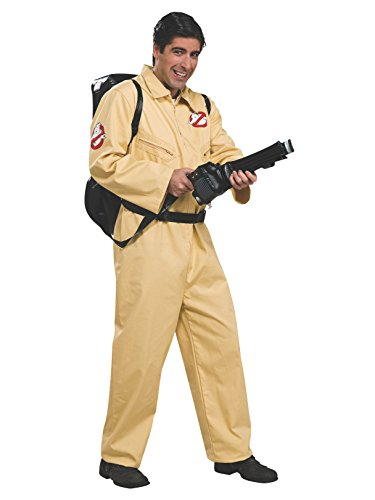 Make Ghostbusters Halloween Costume (Ghostbusters Deluxe Jumpsuit, Beige, One Size)