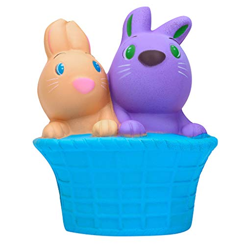 Gbell  Kawaii Bunny Squishy Toys - Squishies Happy Easter Bunny Scented Slow Rising Squeeze Collect Rabbit Easter Toys Gift for Girls Birthday Gifts (Blue) -