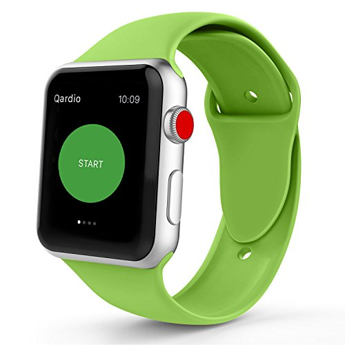 iYou Sport Band for Apple Watch Band, Soft Silicone Replacement Wristband Classic Sport Strap for iWatch 2017 Apple Watch Series 3/2/1, Edition, Nike+, All Models (38MM M/L, Green) Classic Apple Green