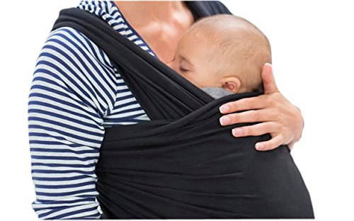 Mom Care Baby Wrap The Best & Most Comfortable Carrier and the Ultimate Light Weight Baby Slings For New Born and 35 lbs Baby's