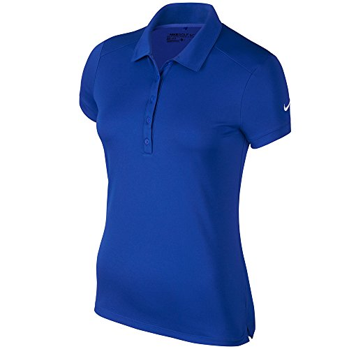 (Nike Victory Solid Golf Polo 2016 Ladies Game Royal Large)