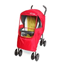 Manito Elegance Plus Stroller Weather Shield/Rain Cover, Red