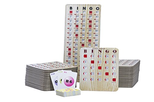 MR CHIPS Bingo Slide Shutter Cards for Senior and Kids - Economy Jam Proof - Shutter Cards Set with 25 Bingo Cards, 75 Calling Cards and 1 Masterboard - Reusable