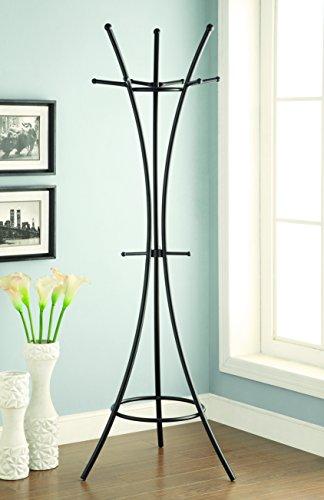 Coaster Home Furnishings 12-Hook Coat Rack Black