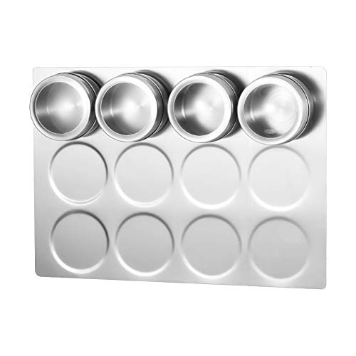 - Aylson Magnetic Spice Rack Wall Mount, Stainless Steel Spice Containers Wall Base for Magnetic Spice Tins (Tins Not Included)