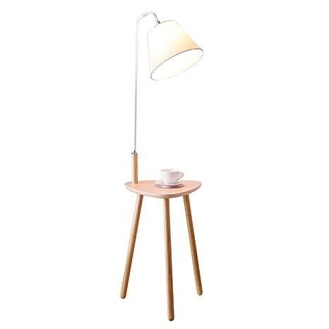 GJIF - Lámpara de pie Lámpara de pie de Madera Maciza con ...
