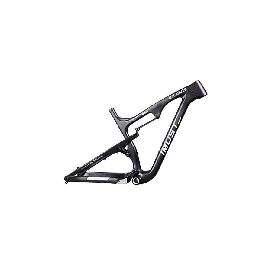 IMUST Carbon Fat Bike 26er Full Suspension Frame Gray 12x197mm 16/18/20 inch