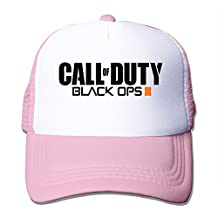 Call Of Duty Black Ops III 3 Hat Unisex-Adult Sun Cap Pink