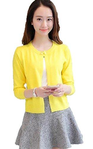 SHUNYI カーディガン レディース ニット UV カット 対策 薄 ショート セーター 毛玉出にくい ストール 長袖 トップス きれいめ アウター