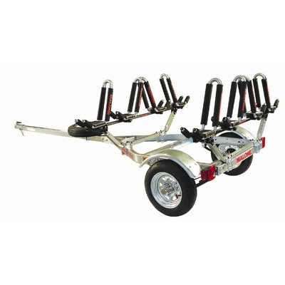 MPG462G2 Malone Auto Racks MicroSport Kayak Trailer with 4  J-Pro2 Kayak Carriers