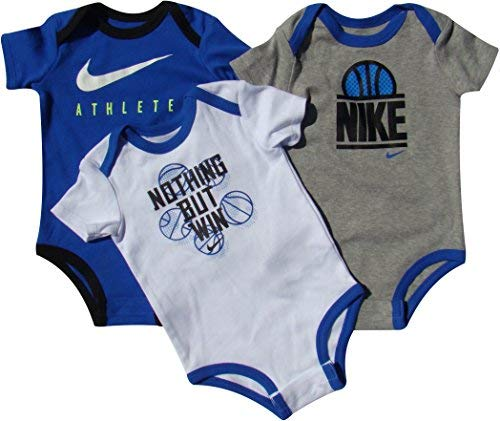Nike Baby Bodysuits Set of 3 Basketball Graphics 6/9M